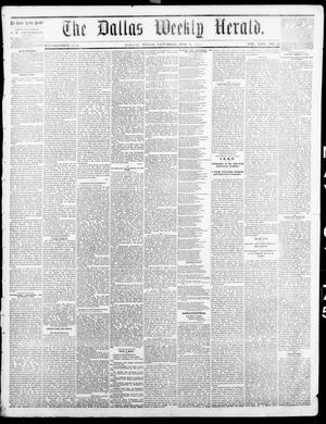 Primary view of object titled 'The Dallas Weekly Herald. (Dallas, Tex.), Vol. 22, No. 33, Ed. 1 Saturday, May 1, 1875'.