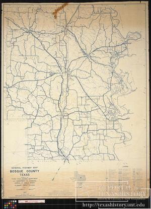Primary view of object titled '1957 General Highway Map of Bosque County, Texas'.
