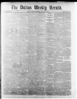 Primary view of object titled 'The Dallas Weekly Herald. (Dallas, Tex.), Vol. 24, No. 17, Ed. 1 Saturday, January 13, 1877'.