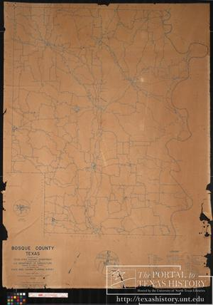 Primary view of object titled '1936 General Highway Map of Bosque County, Texas'.
