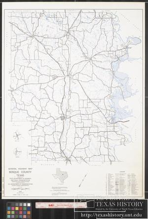 Primary view of object titled '1970 General Highway Map of Bosque County, Texas'.