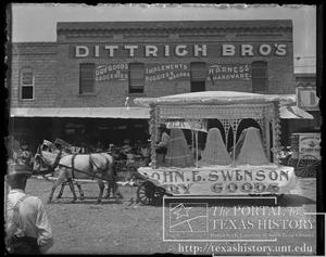 Primary view of object titled 'Parade Float: John E. Swenson, Dry Goods'.