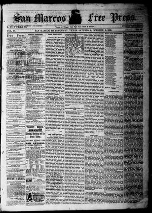Primary view of object titled 'San Marcos Free Press. (San Marcos, Tex.), Vol. 9, No. 46, Ed. 1 Saturday, October 2, 1880'.