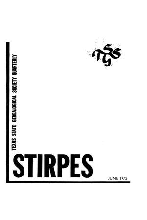 Stirpes, Volume 12, Number 2, June 1972