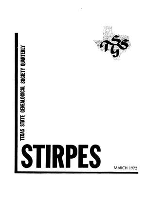 Stirpes, Volume 12, Number 1, March 1972