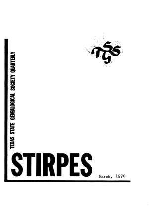 Primary view of object titled 'Stirpes, Volume 10, Number 1, March 1970'.