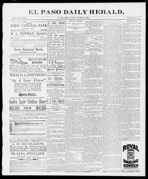 Primary view of object titled 'El Paso Daily Herald. (El Paso, Tex.), Vol. 16, No. 218, Ed. 1 Friday, December 4, 1896'.