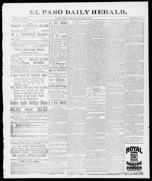 Primary view of object titled 'El Paso Daily Herald. (El Paso, Tex.), Vol. 16, No. 222, Ed. 1 Wednesday, December 9, 1896'.