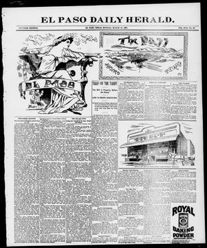 Primary view of object titled 'El Paso Daily Herald. (El Paso, Tex.), Vol. 17, No. 68, Ed. 1 Monday, March 22, 1897'.