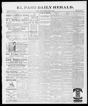 Primary view of object titled 'El Paso Daily Herald. (El Paso, Tex.), Vol. 17, No. 69, Ed. 1 Tuesday, March 23, 1897'.