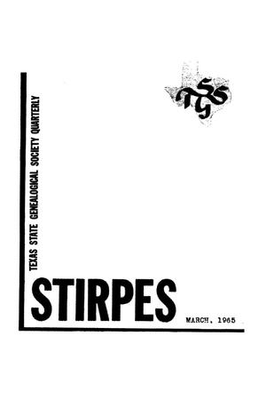 Stirpes, Volume 5, Number 1, March 1965