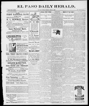 Primary view of El Paso Daily Herald. (El Paso, Tex.), Vol. 17, No. 90, Ed. 1 Friday, April 16, 1897