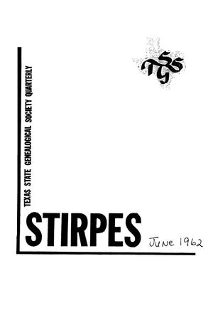 Primary view of object titled 'Stirpes, Volume 2, Number 2, June 1962'.