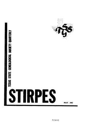 Primary view of object titled 'Stirpes, Volume 2, Number 1, March 1962'.