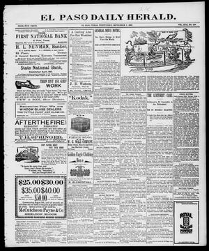 Primary view of object titled 'El Paso Daily Herald. (El Paso, Tex.), Vol. 17, No. 208, Ed. 1 Wednesday, September 1, 1897'.