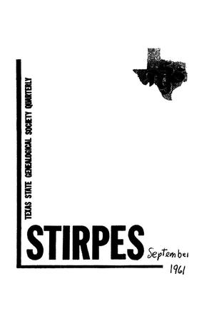 Primary view of object titled 'Stirpes, Volume 1, Number 3, September 1961'.