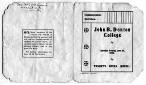 Primary view of object titled 'Commencement Exercises John B. Denton College'.