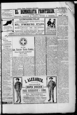 El Democrata Fronterizo. (Laredo, Tex.), Vol. 7, No. 375, Ed. 1 Saturday, November 19, 1904