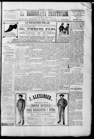 Primary view of object titled 'El Democrata Fronterizo. (Laredo, Tex.), Vol. 7, No. 377, Ed. 1 Saturday, December 3, 1904'.
