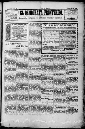 Primary view of El Democrata Fronterizo. (Laredo, Tex.), Vol. 11, No. 654, Ed. 1 Saturday, July 23, 1910