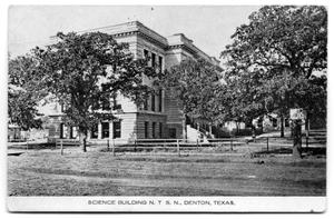 Primary view of object titled 'Science Building N. T. S. N., Denton, Texas.'.