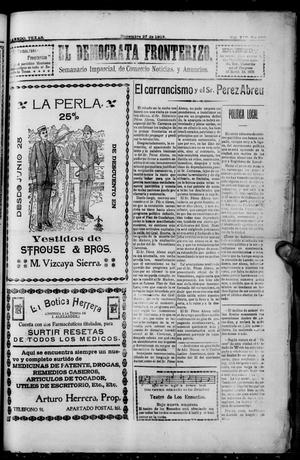 Primary view of object titled 'El Democrata Fronterizo. (Laredo, Tex.), Vol. 14, No. 330, Ed. 1 Saturday, December 27, 1913'.
