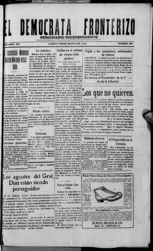 El Democrata Fronterizo. (Laredo, Tex.), Vol. 14, No. 690, Ed. 1 Saturday, May 3, 1919