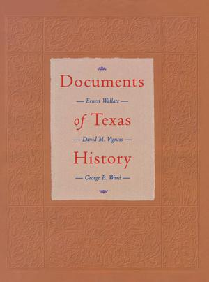 Primary view of object titled 'Documents of Texas History'.