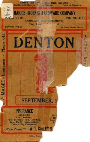 Primary view of object titled 'Denton Telephone Directory: Sept. 1924'.
