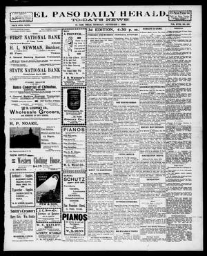 Primary view of object titled 'El Paso Daily Herald. (El Paso, Tex.), Vol. 18, No. 196, Ed. 1 Thursday, September 1, 1898'.