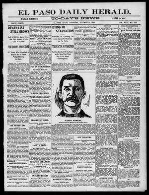 Primary view of object titled 'El Paso Daily Herald. (El Paso, Tex.), Vol. 18, No. 270, Ed. 1 Thursday, December 1, 1898'.