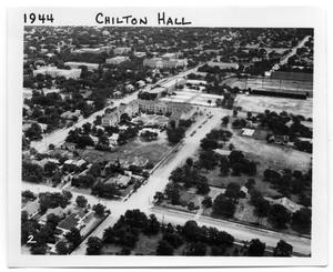 Aerial view of Chilton Hall, NTSTC, Denton, TX c. 1944