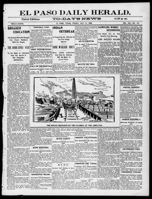 Primary view of object titled 'El Paso Daily Herald. (El Paso, Tex.), Vol. 19, No. 165, Ed. 1 Friday, July 14, 1899'.