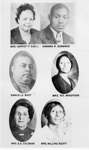 Primary view of object titled 'Portraits of Four Black Women and Two Black Men'.