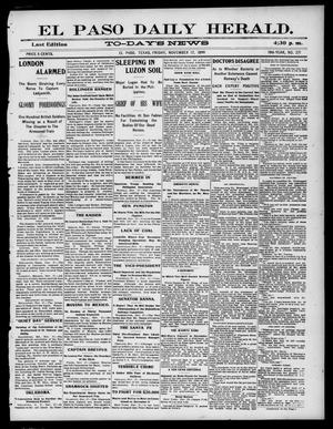 Primary view of object titled 'El Paso Daily Herald. (El Paso, Tex.), Vol. 19TH YEAR, No. 271, Ed. 1 Friday, November 17, 1899'.