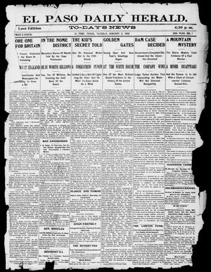 El Paso Daily Herald. (El Paso, Tex.), Vol. 20TH YEAR, No. 1, Ed. 1 Tuesday, January 2, 1900