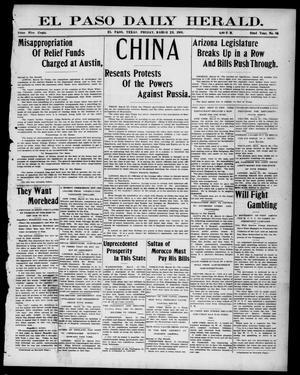 Primary view of El Paso Daily Herald. (El Paso, Tex.), Vol. 22ND YEAR, No. 65, Ed. 1 Friday, March 22, 1901