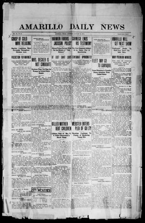 Primary view of object titled 'Amarillo Daily News (Amarillo, Tex.), Vol. 3, No. 61, Ed. 1 Friday, January 13, 1911'.