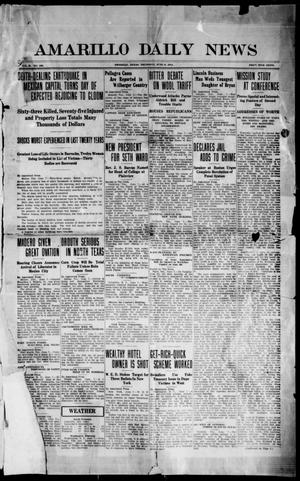 Primary view of object titled 'Amarillo Daily News (Amarillo, Tex.), Vol. 2, No. 186, Ed. 1 Thursday, June 8, 1911'.