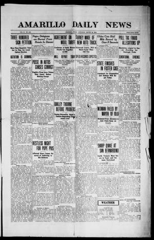 Primary view of object titled 'Amarillo Daily News (Amarillo, Tex.), Vol. 2, No. 242, Ed. 1 Saturday, August 12, 1911'.