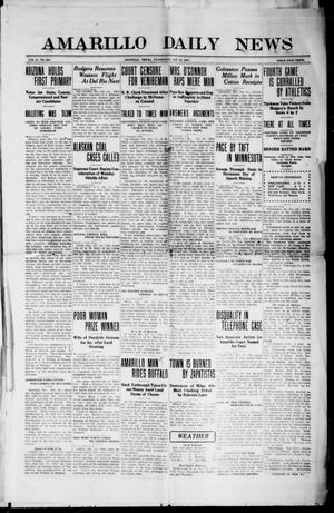 Primary view of object titled 'Amarillo Daily News (Amarillo, Tex.), Vol. 2, No. 305, Ed. 1 Wednesday, October 25, 1911'.