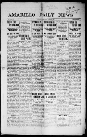 Primary view of object titled 'Amarillo Daily News (Amarillo, Tex.), Vol. 3, No. 30, Ed. 1 Friday, December 8, 1911'.