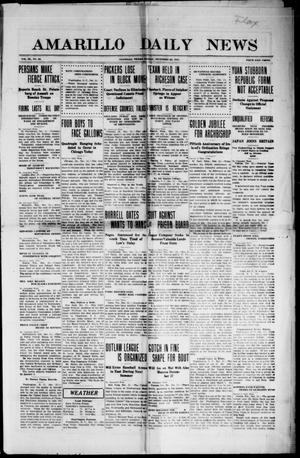 Primary view of object titled 'Amarillo Daily News (Amarillo, Tex.), Vol. 3, No. 42, Ed. 1 Friday, December 22, 1911'.