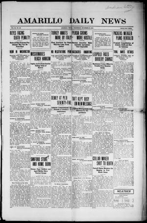 Primary view of object titled 'Amarillo Daily News (Amarillo, Tex.), Vol. 3, No. 46, Ed. 1 Wednesday, December 27, 1911'.