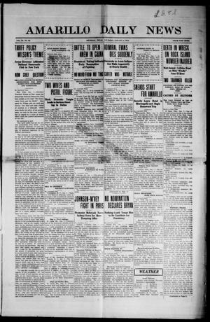 Primary view of object titled 'Amarillo Daily News (Amarillo, Tex.), Vol. 3, No. 53, Ed. 1 Thursday, January 4, 1912'.