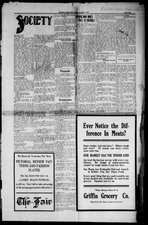 Primary view of object titled 'Amarillo Daily News (Amarillo, Tex.), Vol. 3, No. 54, Ed. 1 Friday, January 5, 1912'.
