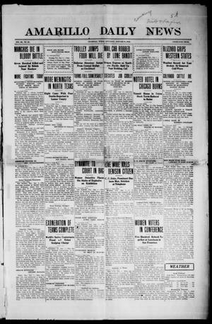Primary view of object titled 'Amarillo Daily News (Amarillo, Tex.), Vol. 3, No. 55, Ed. 1 Saturday, January 6, 1912'.