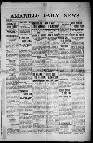 Primary view of object titled 'Amarillo Daily News (Amarillo, Tex.), Vol. 3, No. 57, Ed. 1 Tuesday, January 9, 1912'.