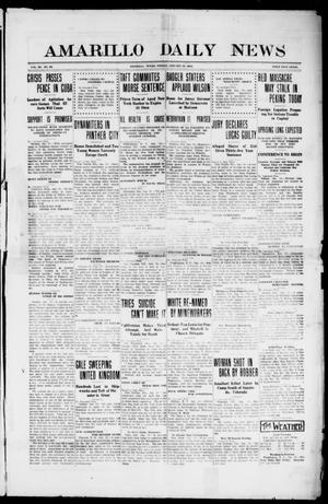 Primary view of object titled 'Amarillo Daily News (Amarillo, Tex.), Vol. 3, No. 66, Ed. 1 Friday, January 19, 1912'.