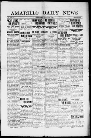 Primary view of object titled 'Amarillo Daily News (Amarillo, Tex.), Vol. 3, No. 69, Ed. 1 Tuesday, January 23, 1912'.